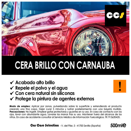 Cera en spray para abrillantado de coches