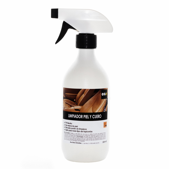 Limpiador para tapicerías de cuero y piel